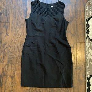 Calvin Klein Black Sleeveless Dress w/ Mesh Detail